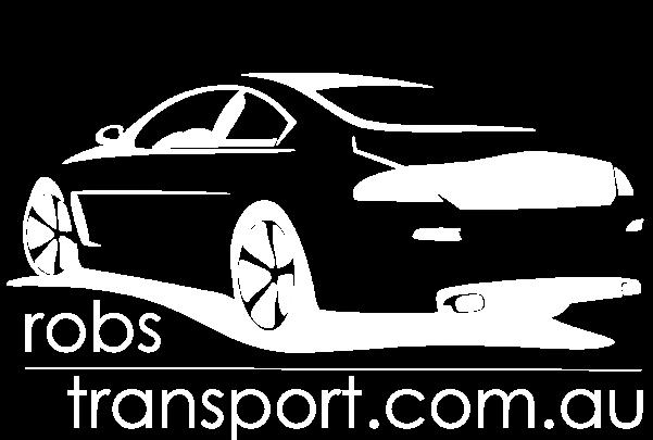 Robs Transport Ballina logo reversed colors